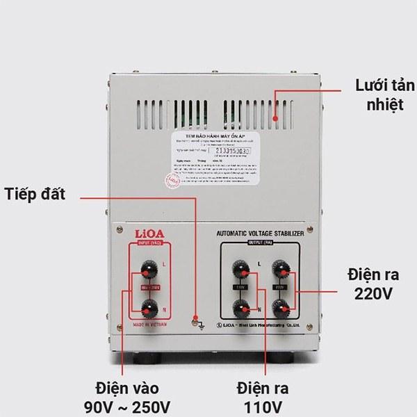 Cách lắp đặt ổn áp LiOA 5KVA dải 90