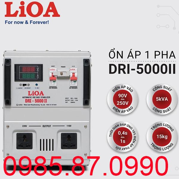 Ổn áp LiOA 5KVA dải 90