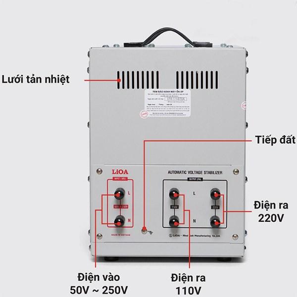 Cách lắp đặt ổn áp LiOA 7,5KVA dải 50V