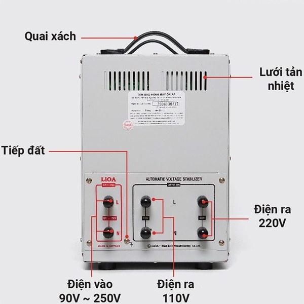 Cách lắp đặt ổn áp LiOA 7.5KVA dải 90