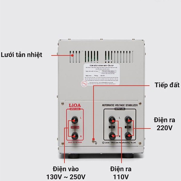 Cách lắp đặt ổn áp LiOA SH-5000 II