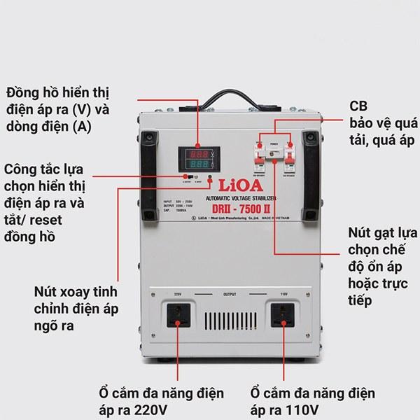 Hướng dẫn sử dụng ổn áp LiOA 7,5KVA dải 50V