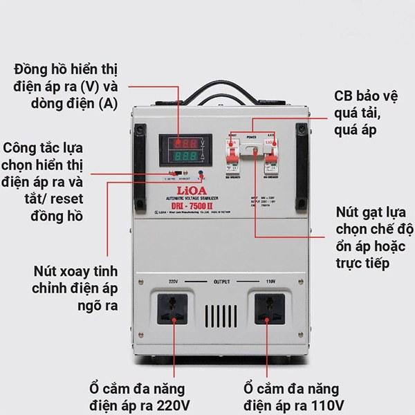 Hướng dẫn sử dụng ổn áp LiOA 7.5KVA dải 90