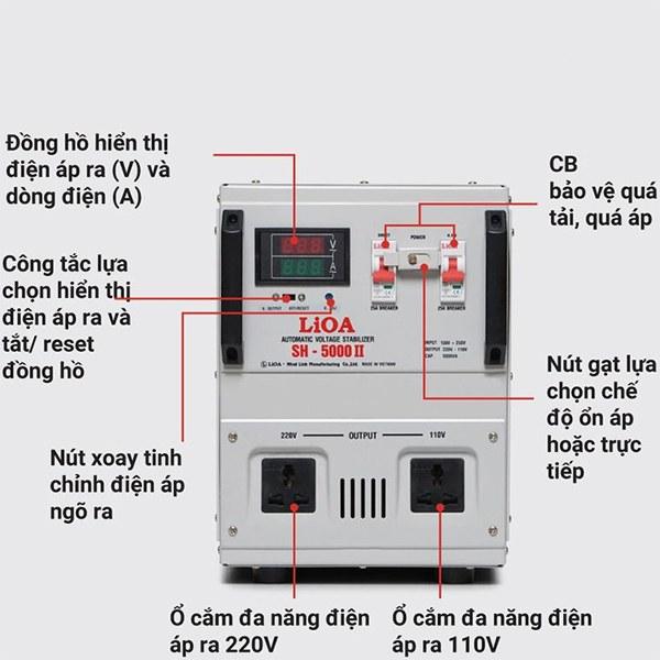 Hướng dẫn sử dụng ổn áp LiOA SH-5000 II