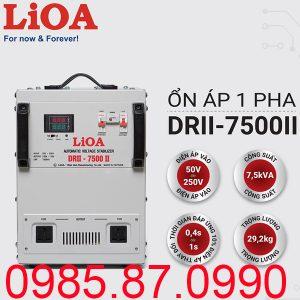 Ổn áp LiOA 7,5KVA dải 50V