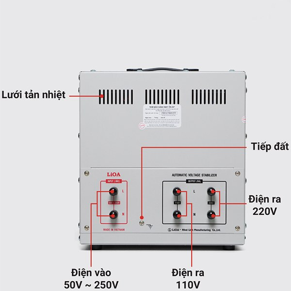 Cách lắp đặt ổn áp LiOA 10KVA dải 50V