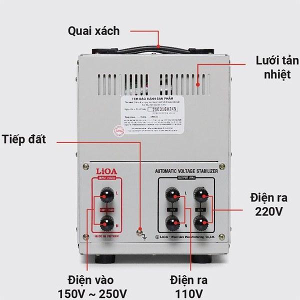 Cách lắp đặt ổn áp LiOA SH-7500 II