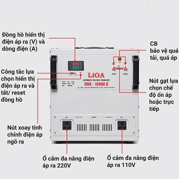 Hướng dẫn sử dụng ổn áp LiOA 10KVA dải 50V