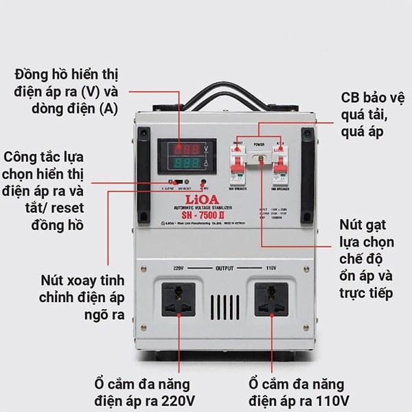 Hướng dẫn sử dụng ổn áp LiOA SH-7500 II