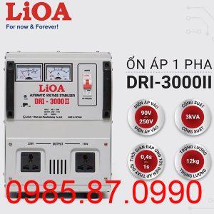 Ổn áp 1 pha LiOA 3KVA DRI-3000II
